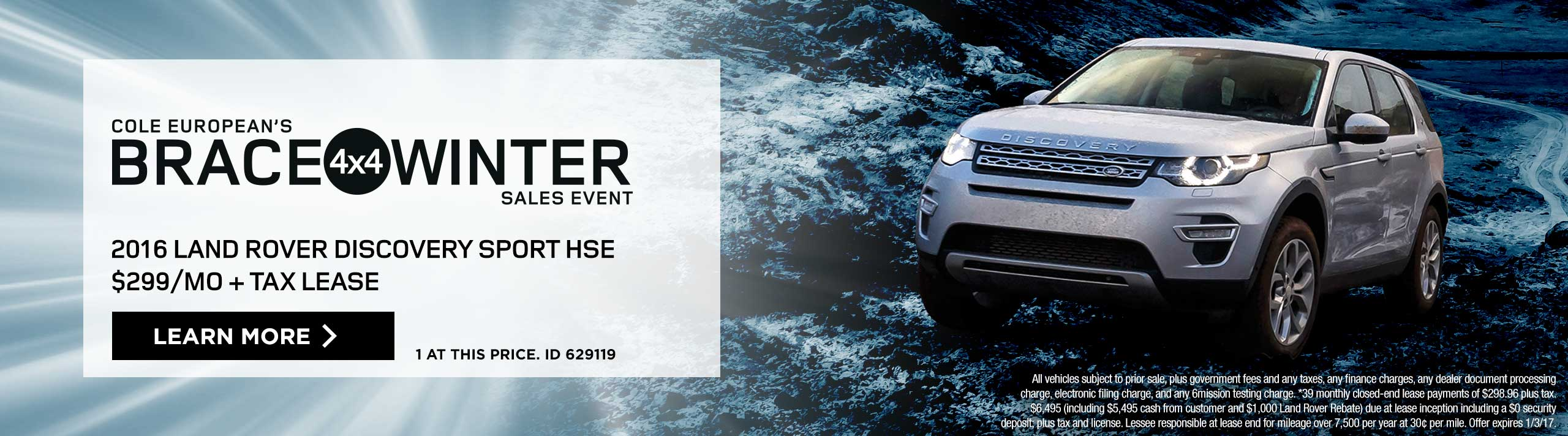 Brace 4x4 Winter Sales Event