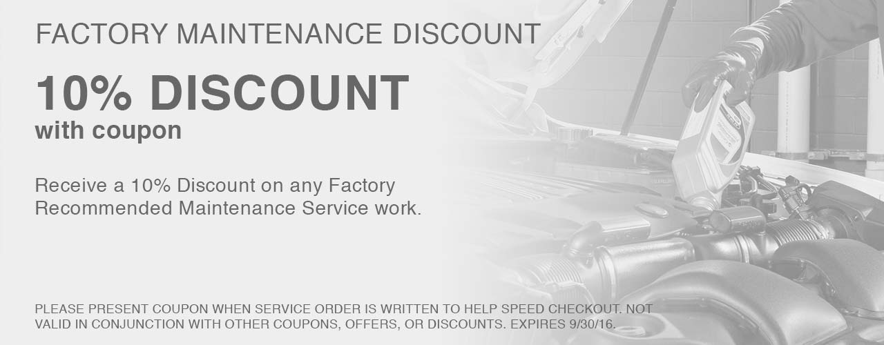 Cole European Service Coupon